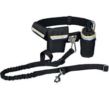 TRIXIE Hands Free Waist Belt Band with Tape Leash Lead for Dog Walking & Jogging