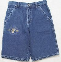 New Wu Wear Denim Jeans Shorts 10 Ten Blue Cotton Women's Woman Solid With Tags