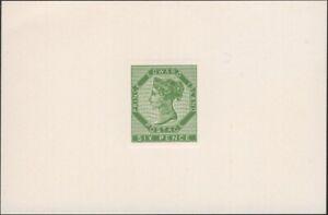 CANADA, P.E. ISLAND, 1862-65. QV 6d Yellow Green Uni 7, Die Proof