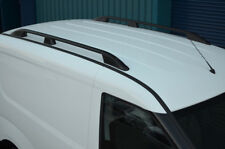 Black Aluminium Roof Rack Rails Side Bars Set To Fit SWB Vauxhall Combo (2011+)