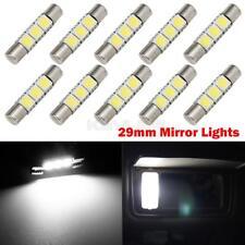 10PCS 3-SMD 6614F Fuse LED Sun Visor Vanity Mirror Lights Bright White