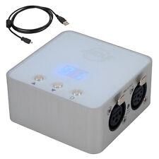 American DJ ADJ Mydmx 3.0 USB controlador de iluminación XLR DMX + paquete de software