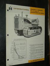 Prospectus IH INTERNATIONAL Tracteur Chenilles TD30 A   MAC CORMICK Brochure TP