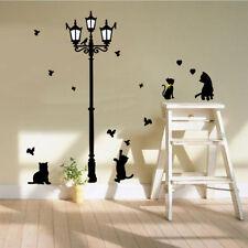 Lamp&Cat Birds Removable Wall Sticker  Vinyl Decals Kids Nursery Mural Decor Luz