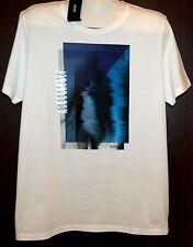 Hugo Boss  White Graphic Cotton Mens T- Shirt Size 2XL NEW