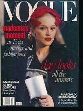 VOGUE October 1996 Fashion Magazine MADONNA Evita Cover STEVEN MEISEL Very Fine