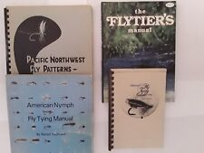 Fly Tying Books. 4 Pcs. Patterns. Techniques. Fishing. Hunting. Camping. Hobby.