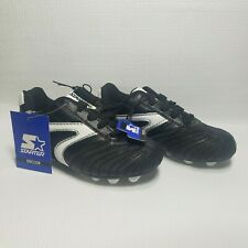 Starter SZ 11 Soccer Cleats Lace Up Black White Athletic Youth Boys Sports Shoes