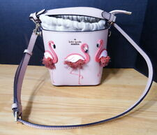 Kate Spade by The Pool Flamingo Pippa Drawstring Satchel Crossbody Bag Purse