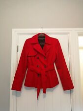 George Red Style Trench Coat Size 12 BNWOT