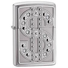 Zippo Swarovski Bling Emblem Chrome Lighter 20904 *NEW*