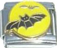 Italian Charm Flying Bats Moonlight Scary Halloween Boo