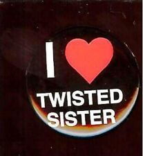 old I Love ( Heart ) Twisted Sister Pin Pinback Button