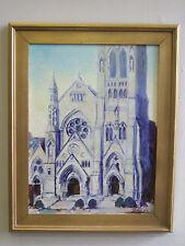 """SLU-College church, St. Louis"" o/ c, listed artist Irek T. Szelag"