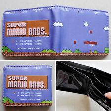 Game Nintendo SUPER MARIO BROS. Logo wallets Purse Multi-Color 12cm Leather LR
