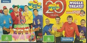 THE WIGGLES: Happy 15th Birthday + 20 Years Wiggle Treats! DVD 2x Promotional R4