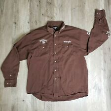 Jack Daniels Whiskey Old No 7 Brand Western Wrangler Shirt Mens Size XL Rodeo