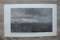 Deutsche Tiefsee Expedition 1899 Wiedergefunden Bouvet Insel 1895-1910 17x28cm