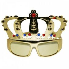 kings Gold crown  Glasses fun adult specs Royal Event,Party