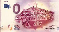 BILLET 0 ZERO EURO SCHEIN SOUVENIR IBIZA  2017