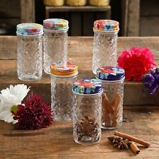 The Pioneer Woman Floral 4.1-Inch Spice Jars Set Of 6 Cooking Spices Organizer
