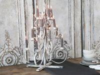 Chic Antique Fil de fer Weihnachtsbaum Metall Creme Deko Shabby Vintage 65cm