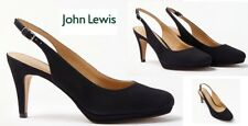 Ladies Shoes John Lewis Carly Navy Slingback Platform Size6 New Free Delivery
