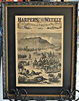 Framed Harper's Weekly Page 1, Aug 17, 1878, Battle of Birch Creek, Indian Wars