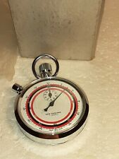 Vintage Stopwatch New England 7 Jewels Windup Mechanical Swiss Made With Box