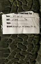 (1) 275/65-18 Bfgoodrich All Terrain Ko2 Used High Tread Tire 275 65 18 9/32Nds