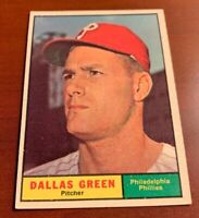 1961 Topps # 359 Dallas Green Baseball Card Philadelphia Phillies
