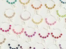 30 Multi Colour Wine Glass Charms. Favours,party,Wedding,Gift,Christenings