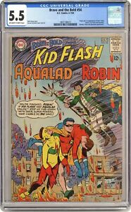 Brave and the Bold #54 CGC 5.5 1964 3801188013 1st app. and origin Teen Titans