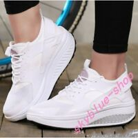 Breathable Womens Wedges Heel Sneakers Running Boats Casual Shoes Athletic Comfy