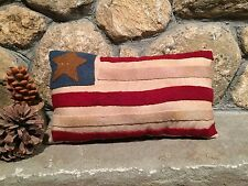 Pillow Primitive Inspired HAND MADE AMERICAN FLAG PILLOW Americana Patriotic