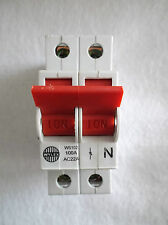 Wylex WS102 100A AC22A SP/DP/multipole Isolator Red Switch MAIN SWITCH