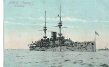 VINTAGE postcard:  SHIP SHIPPING - H.M.S. JUPITER battleship