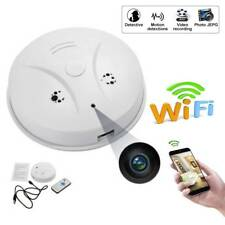 1080P WiFi Hidden IP Camera Spy Smoke Detector Video Recorder for Android IOS