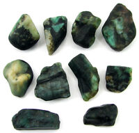300.00 Ct Natural Raw Green Emerald Loose Gemstone Rough Crystal 10 Pc Lot-10977
