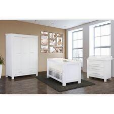 Enni 4-tlg. Babyzimmer  in Weiss mit 3 türigem Kleiderschrank Ohne Textilen