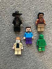 Lego Mini Figures Bundle X5 Including Minecraft Figure