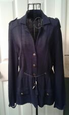 NIC + ZOE Women's Blue Button Down  Cardigan Sz L