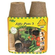 Jiffy 5318 3-Inch Seed Start Pots, 22-Count