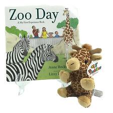 "Zoo Day Story-time Bundle Hardcover Book W/ 5"" Giraffe Stuffed Animal -AW"