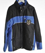 BOGNER SKI JACKET OXFORD 6000 WINTER BLUE BLACK BREATHABLE WATERPROOF HOOD M 38