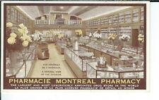 AY-136 - Pharmacy Montreal Store Interior Advertising Postcard, Canada 1901-07
