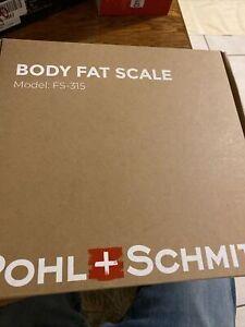 POHL+SCHMITT Switzerland Body Fat Scale Model: FS-315 400lbs/180kg LED Display