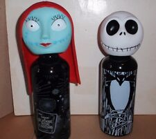 NIGHTMARE BEFORE CHRISTMAS ALUMINUM WATER BOTTLE 2 PC SET JACK & SALLY NWT'S
