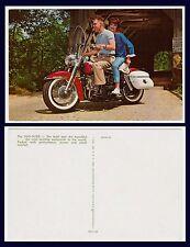 HARLEY DAVIDSON  DUO-GLIDE ADVERTISING POSTCARD CIRCA 1962