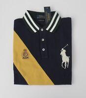 NWT Ralph Lauren SS CUSTOM SLIM FIT Big Pony Mesh Polo Shirt Sz M L XL 2XL NEW